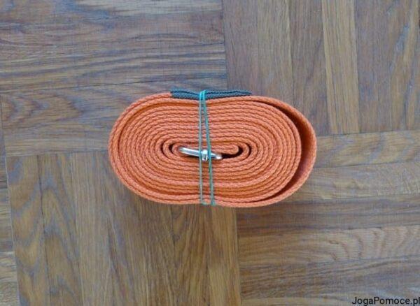 Pasek do jogi 3 cm pomarańczowy