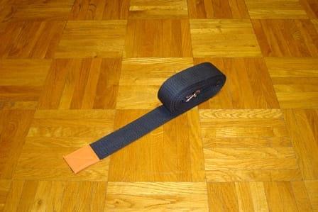 Pasek do jogi 4cm czarny