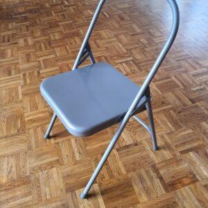 Krzesło do jogi szare
