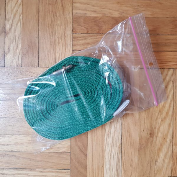 Pasek do jogi 3cm zielony