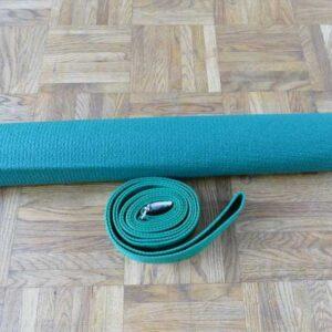 Zestaw do jogi zielony mata  i pasek