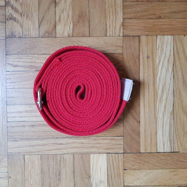 Pasek do jogi 3 cm czerwony