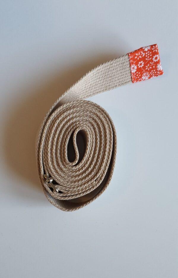 pasek do jogi 4cm beżowy