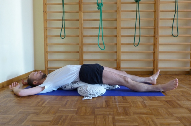 Wykorzystanie wałka do jogi
